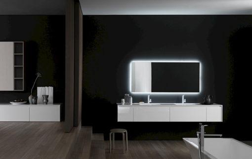 Ink NK06 - Mobile luxury arredo bagno L 244 x P 51 cm personalizzabile COMPAB