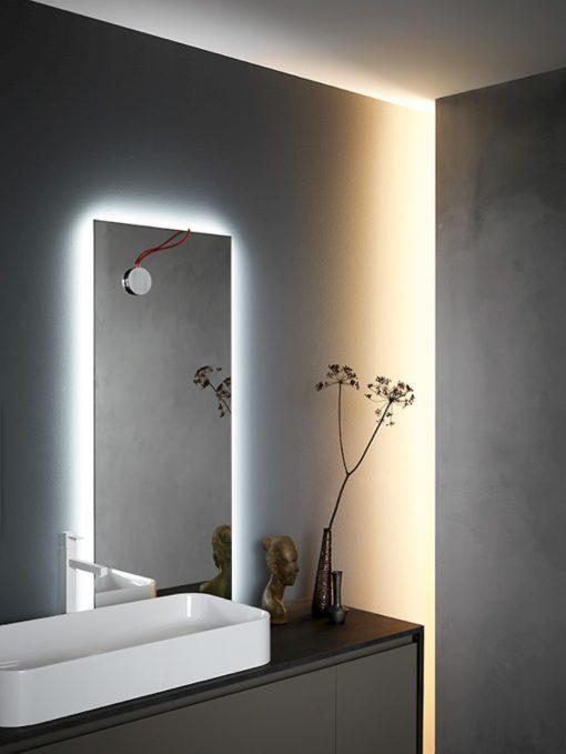 Ink NK08 - Mobile luxury arredo bagno L 140+159 x P 20,8/51 cm personalizzabile COMPAB