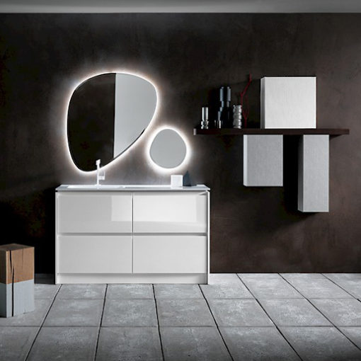 Ink NK09 - Mobile luxury arredo bagno L 144+150 x P 51/20,8 cm personalizzabile COMPAB