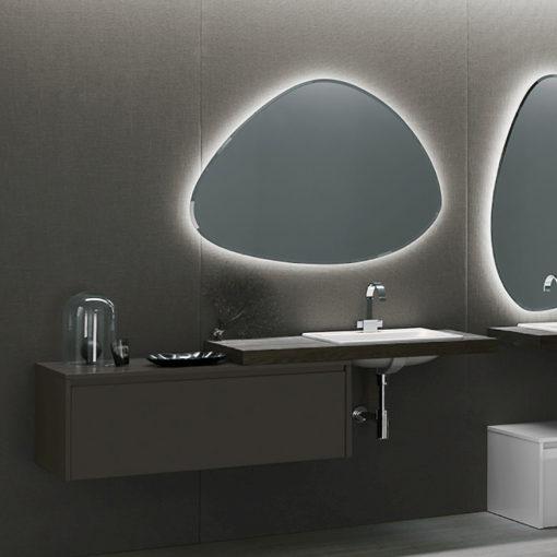 Ink NK10 - Mobile luxury arredo bagno L 176 x P 51 cm personalizzabile COMPAB