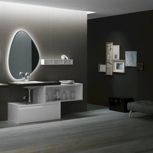Ink NK11 - Mobile luxury arredo bagno L 176 x P 51/13 cm personalizzabile COMPAB