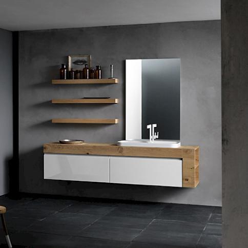 Ink NK13 - Mobile luxury arredo bagno L 206 x P 51/16 cm personalizzabile COMPAB