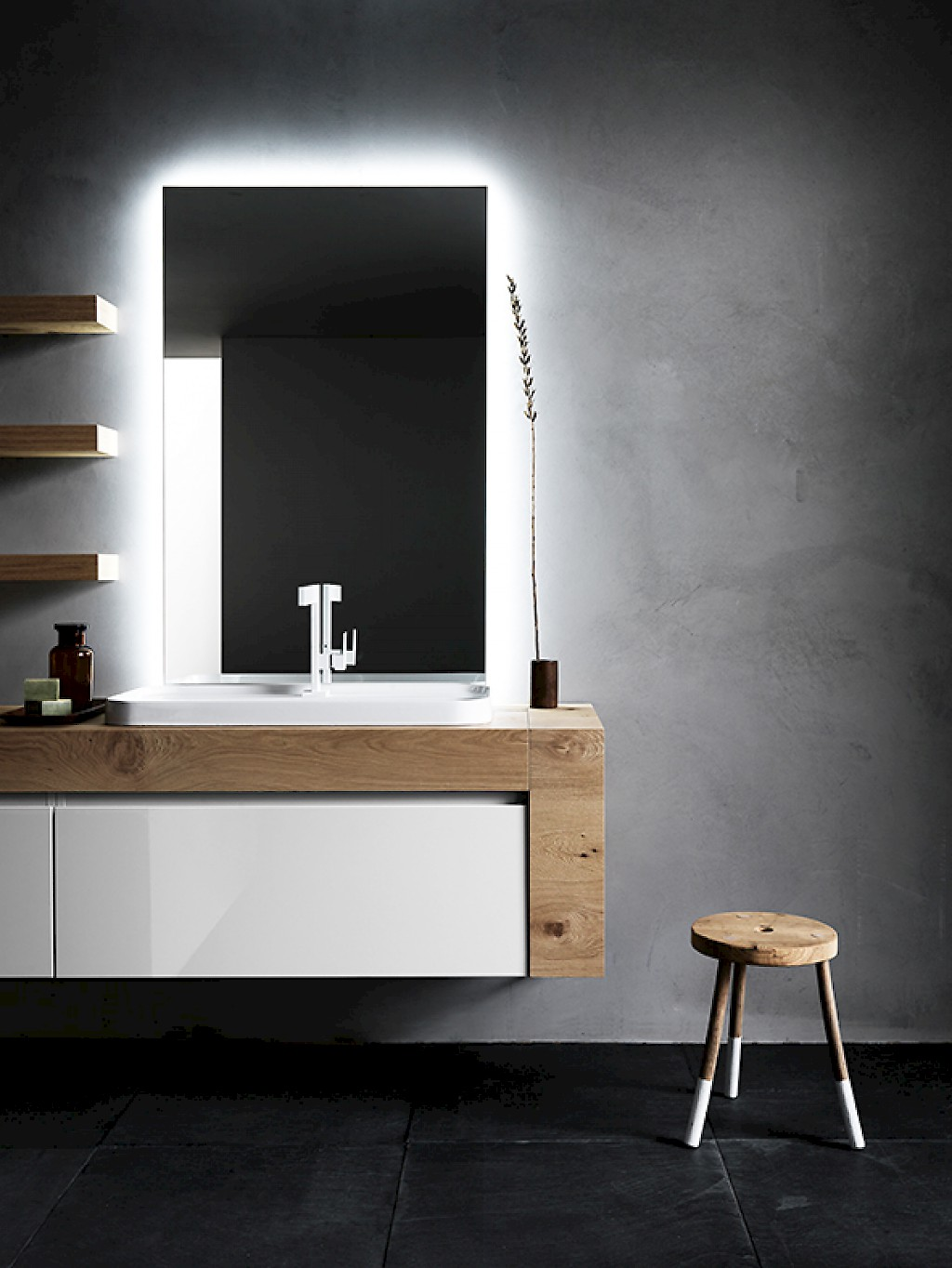 Ink nk13 mobile luxury arredo bagno l 206 x p 51 16 cm for Mobile bagno p 35