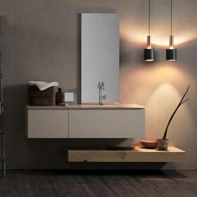 Ink NK14 - Mobile luxury arredo bagno L 195 x P 51 cm personalizzabile COMPAB