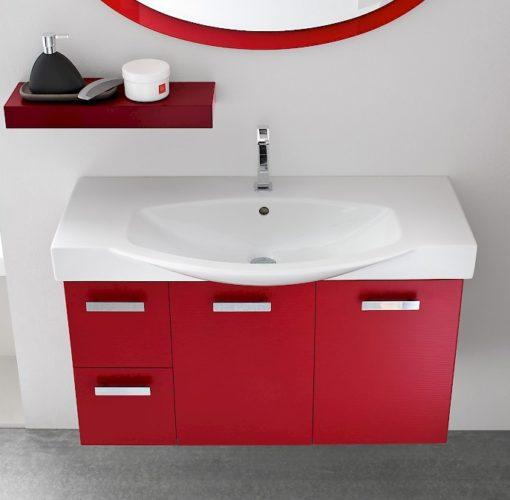 B201 G9 – Mobile arredo bagno con colonna L.97+35 cm COMPAB