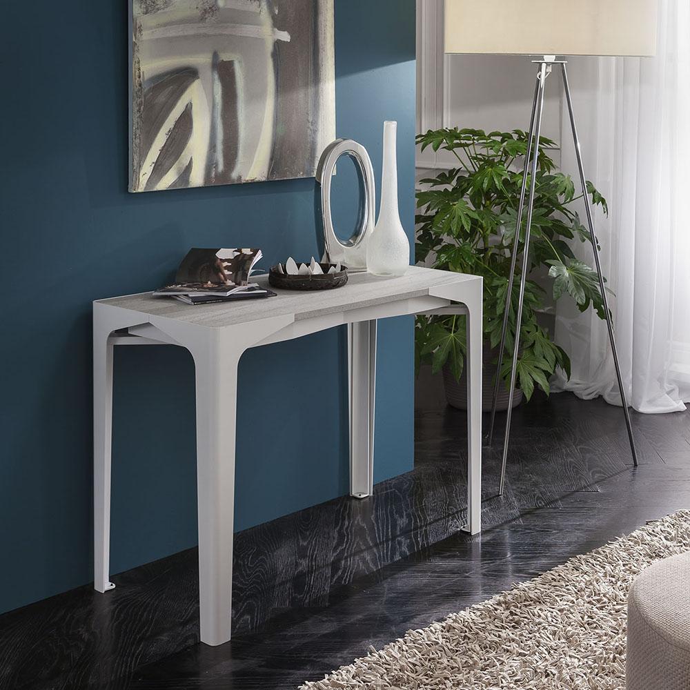 Fabio tavolo consolle estensibile da 180 cm o 310 cm la for Consolle estensibili