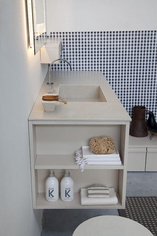 K25 21 - Mobile luxury arredo bagno L 151+174 x P 51/38/13 cm personalizzabile COMPAB