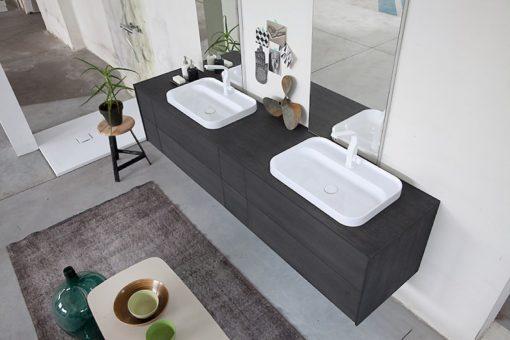K25 22 - Mobile luxury arredo bagno L 222,6 x P 51 cm personalizzabile COMPAB