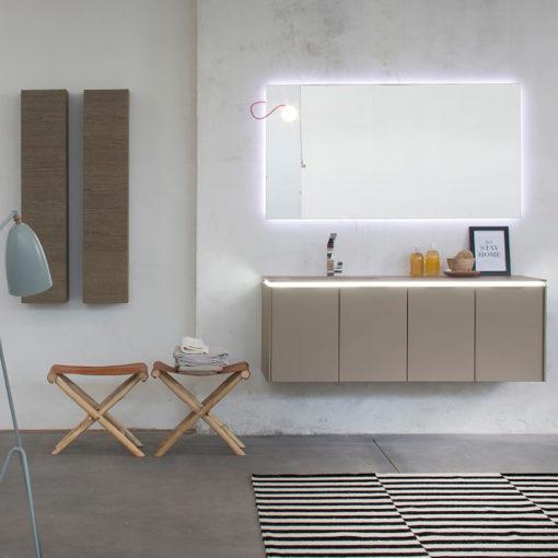 K25 23 - Mobile luxury arredo bagno L 142,8+25+25 x P 51/20,8 cm personalizzabile COMPAB