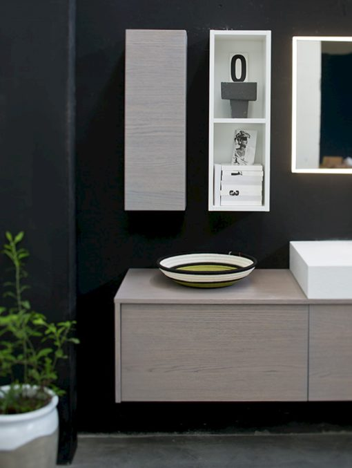 K25 24 - Mobile luxury arredo bagno L 222 x P 51/20,8 cm personalizzabile COMPAB