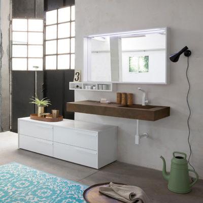 K25 25 - Mobile luxury arredo bagno L 174+140 x P 51 cm personalizzabile COMPAB