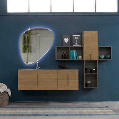 K25 26 - Mobile luxury arredo bagno L 146+140 x P 51/20,8 cm personalizzabile COMPAB