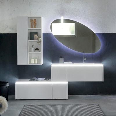 K25 27 - Mobile luxury arredo bagno L 210,8 x P 51/20,8 cm personalizzabile COMPAB