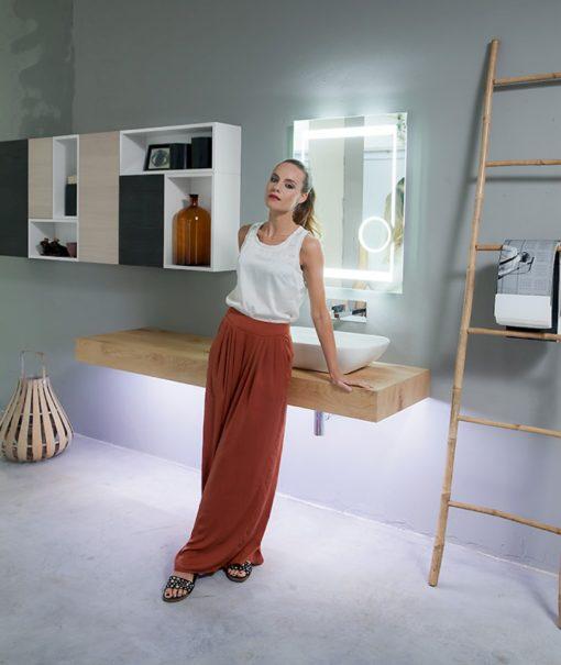 K25 29 - Mobile luxury arredo bagno L 180+190 x P 51/20,8 cm personalizzabile COMPAB