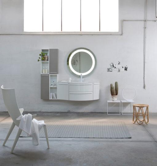 K25 30 - Mobile luxury arredo bagno L 176 x P 51/20,8 cm personalizzabile COMPAB