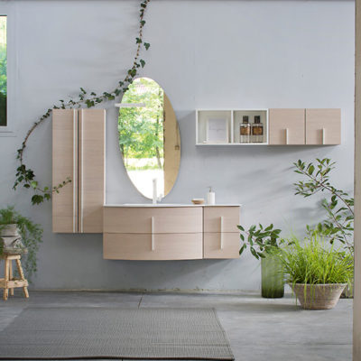 K25 31 - Mobile luxury arredo bagno L 50+131+140 x P 51/38/20,8 cm personalizzabile COMPAB