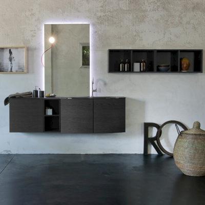 K25 32 - Mobile luxury arredo bagno L 172+140 x P 51/38/20,8 cm personalizzabile COMPAB