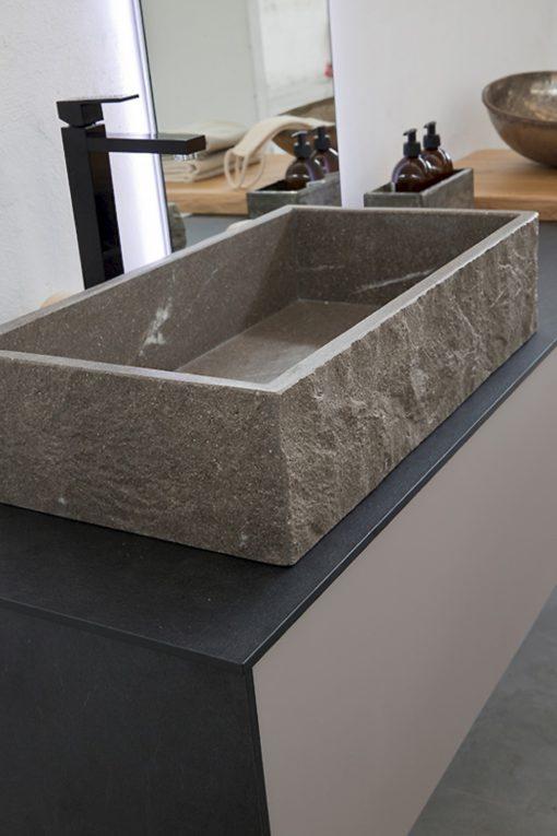 K25 33 - Mobile luxury arredo bagno L 187,4+185 x P 51/51 cm personalizzabile COMPAB