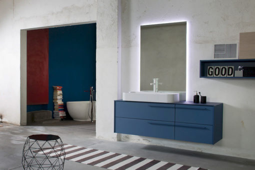 K25 35 - Mobile luxury arredo bagno L 147,8+180 x P 51/20,8 cm personalizzabile COMPAB
