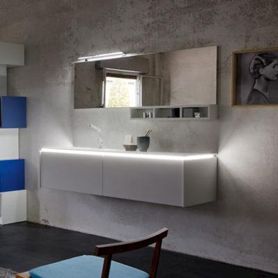 K25 36 - Mobile luxury arredo bagno L 173 x P 51/13 cm personalizzabile COMPAB