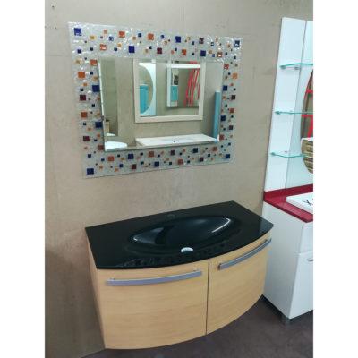 MONO - Mobile da bagno curvo con specchio L 96 cm - Pronta Consegna